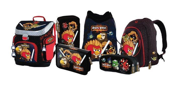 """Batoh """"Angry Birds Star Wars"""", vyztužená přední kapsa, UNIPAP"""
