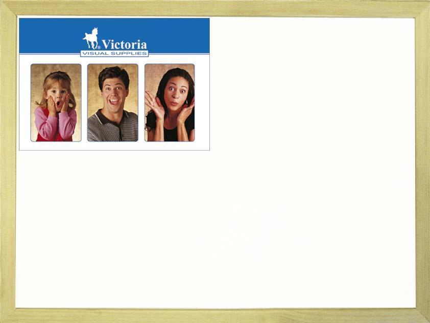 Bílá tabule, 40x60cm, dřevěný rám, VICTORIA