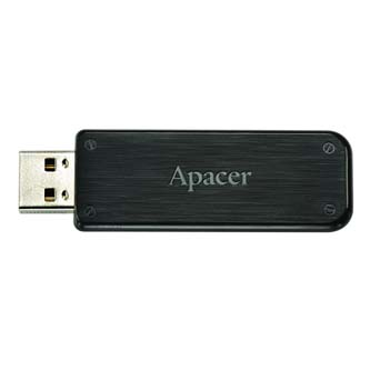 Apacer USB Flash Drive, 2.0, 8GB, AH325 8GB Flash Drive, černý, AP8GAH325B-1