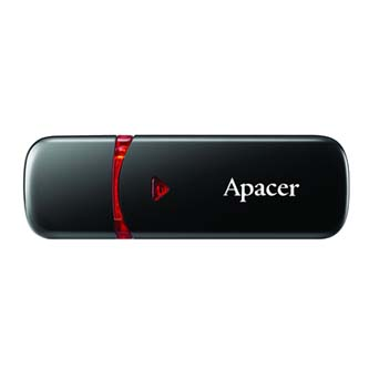 Apacer USB Flash Drive, 2.0, 16GB, AH333 16GB Flash Drive, černý, AP16GAH333B-1