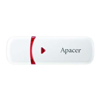 Apacer USB Flash Drive, 2.0, 16GB, AH333 16GB Flash Drive, bílý, AP16GAH333W-1