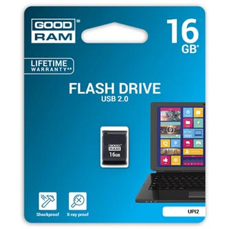 Goodram USB flash disk, 2.0, 16GB, UPI2, černý, UPI2-0160K0R11