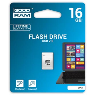 Goodram USB flash disk, 2.0, 16GB, UPI2, bílý, UPI2-0160W0R11