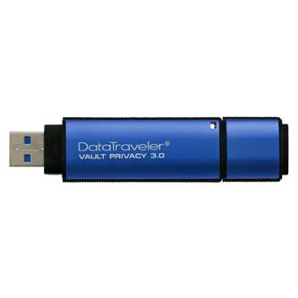 Kingston USB Flash Memory DataTraveler Vault, 3.0, 32GB, Data Traveler Vault Privacy, modrý, DTVP30/32GB