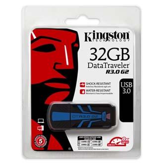 Kingston USB flash disk, 3.0, 32GB, Data Traveler R30G2, černý, DTR30G2/32GB