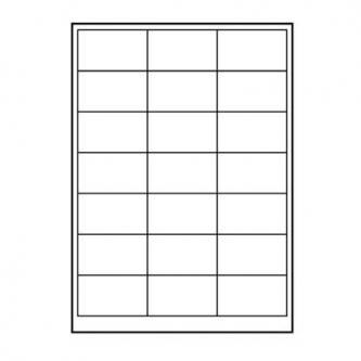 Etikety 63 x 39.5 mm, A4, matné, bílé, 21 etiketa, 140g/m2, baleno po 10 ks, pro inkoustové a laserové tiskárny