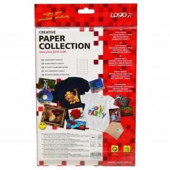 Etikety 63 x 39.5 mm, A4, matné, bílé, 21 etiketa, 140g/m2, baleno po 25 ks, pro inkoustové a laserové tiskárny