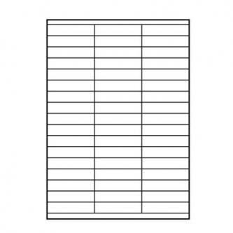 Etikety 70 x 16.9 mm, A4, matné, bílé, 51 etiketa, 140g/m2, baleno po 25 ks, pro inkoustové a laserové tiskárny