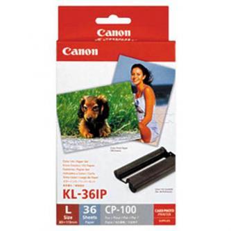 """Canon Color Ink Paper Set, foto papír, lesklý, bílý, Specifický, 3,5x4,7"""", 36 ks, 7738A001AG, termosublimační"""