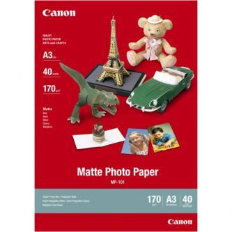 Canon Matte Photo Paper, foto papír, matný, bílý, A3, 297x420mm (A3), 170 g/m2, 40 ks, MP-101 A3