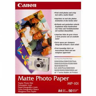 Canon Matte Photo Paper, foto papír, matný, bílý, A4, 210x297mm (A4), 170 g/m2, 50 ks, MP-101 A4