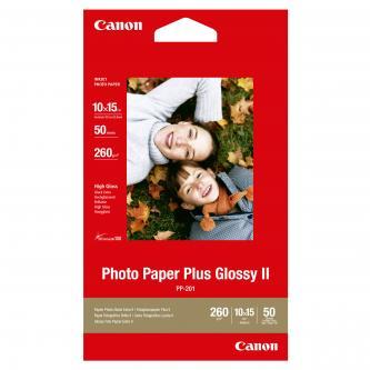 """Canon Photo Paper Plus Glossy, foto papír, lesklý+, bílý, 4x6"""", 10x15cm, 260 g/m2, 50 ks, PP-201 4x6"""