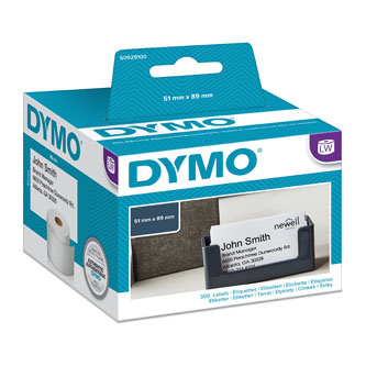 Dymo papírové štítky 89mm x 51mm, bílé, pro vizitky, bez lepidla, S0929100