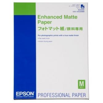 Epson Enhanced Matte Paper, bílý, 50, ks C13S042095, pro inkoustové tiskárny, A2, 192 g/m2, 171-200 g/m2