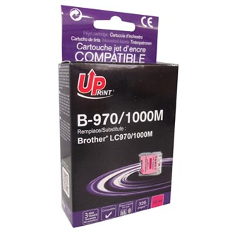 Inkoustová cartridge pro Brother DCP-330C, 540CN, 130C, MFC-240C, 440CN, magenta, B-970M, 10ml, UP, kompatibilní s LC1000M