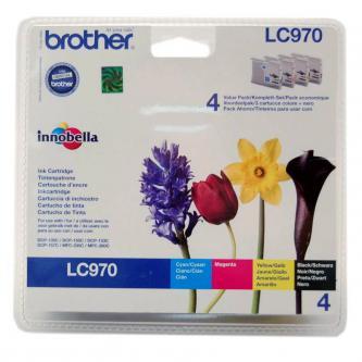 Inkoustová cartridge Brother DCP-135C, 150C, MFC-235C, 260C, LC-970VALBP, CMYK, 300s, O
