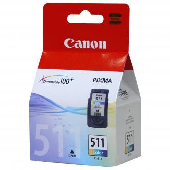 Inkoustová cartridge Canon MP240, MP260, CL511, color, 2972B004, 9ml, 245s, blistr s ochranou, O