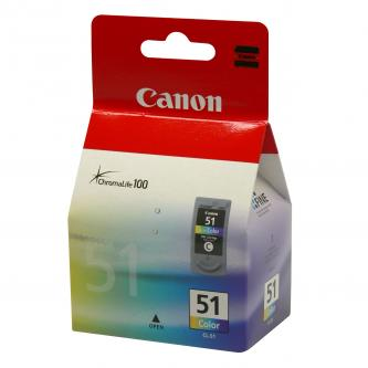 Inkoustová cartridge Canon iP2200, iP6210D, MP150, MP170, MP450, CL51, color, 0618B001, 3*7 ml, 330s, O