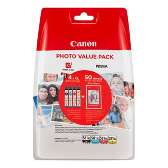 Canon originální ink CLI-581 XL CMYK Multi Pack, CMYK, blistr, 4*8,3ml, 2052C004, very high capacity, Canon PIXMA TS6150,TS6151,TS