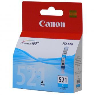 Inkoustová cartridge Canon iP3600, iP4600, MP620, MP630, MP980, CLI521C, cyan, 2934B005, 9 ml, 505s, blistr s ochranou, O