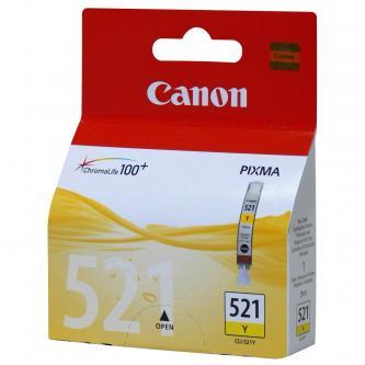 Inkoustová cartridge Canon iP3600, iP4600, MP620, MP630, MP980, CLI521Y, yellow, 2936B008, 2936B005, 9 ml, 505s, blistr s ochranou