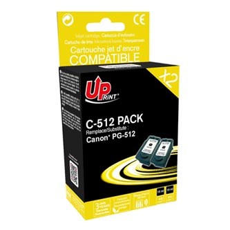 UPrint kompatibilní ink s PG512BK, black, 2x400str., 2x18ml, C-512B PACK, pro Canon MP240, 260, 480