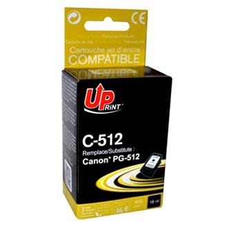 Inkoustová cartridge pro Canon MP240, MP260, MP480, PG512BK, black, C-512B, 20ml, UP