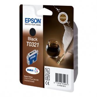 Inkoustová cartridge Epson Stylus Color C80, C82, C70, CX5200, CX5400, C13T032140, black, 1*33ml, 1240s, DURABrite, O