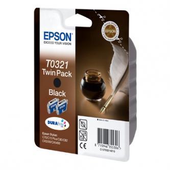 Inkoustová cartridge Epson Stylus Color C80, C82, C70, CX5200, CX5400, C13T032142, black, 2 ks, DURABrite, O