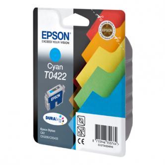 Inkoustová cartridge Epson Stylus C82, CX5200, CX5400, C13T042240, cyan, 1*16ml, 420s, DURABrite, O