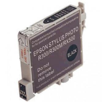 Inkoustová cartridge pro Epson RX500, RX600, R200, R300, black, 17ml, L, kompatibilní s T048140
