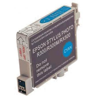 Inkoustová cartridge pro Epson RX500, RX600, R200, R300, cyan, 17ml, L, kompatibilní s T048240