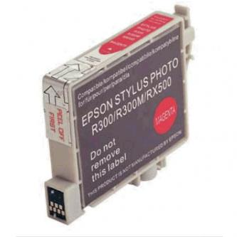 Inkoustová cartridge pro Epson RX500, RX600, R200, R300, magenta, 17ml, L, kompatibilní s T048340
