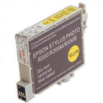 Inkoustová cartridge pro Epson RX500, RX600, R200, R300, yellow, 17ml, L, kompatibilní s T048440
