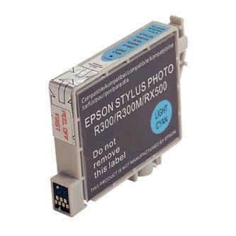 Inkoustová cartridge pro Epson RX500, RX600, R200, R300, light cyan, 17ml, L, kompatibilní s T048540