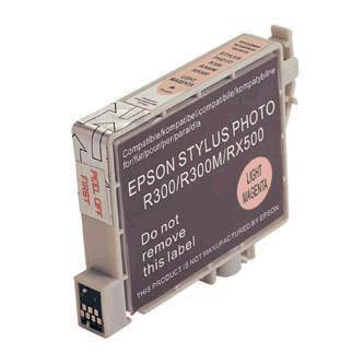 Inkoustová cartridge pro Epson RX500, RX600, R200, R300, light magenta, 17ml, L, kompatibilní s T048640