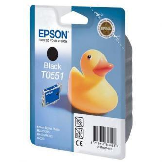 Inkoustová cartridge Epson Stylus Photo RX425, 420, C13T05514020, black, 1*8ml, 290s, blistr s ochranou, O