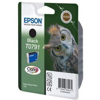 Inkoustová cartridge Epson Stylus Photo 1400, C13T079140, black, 11,1ml, Claria, O