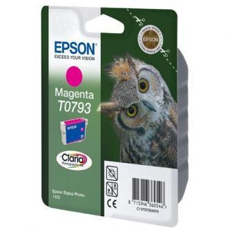 Inkoustová cartridge Epson Stylus Photo 1400, C13T079340, magenta, 11,1ml, Claria, O