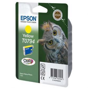 Inkoustová cartridge Epson Stylus Photo 1400, C13T079440, yellow, 11,1ml, O