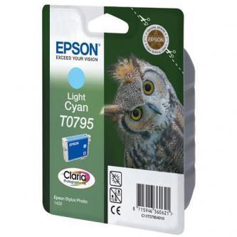 Inkoustová cartridge Epson Stylus Photo 1400, C13T079540, light cyan, Claria, O
