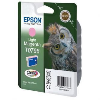 Inkoustová cartridge Epson Stylus Photo 1400, C13T079640, light magenta, Claria, O