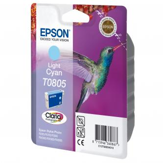 Inkoustová cartridge Epson Stylus Photo PX700W/800FW/R265/285/360/RX560/585, C13T08054011, light cyan, Claria, O