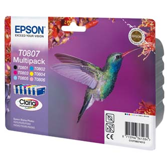 Inkoustová cartridge Epson Stylus Photo PX700W, C13T08074011, CMYK/light C/light M, Claria, O