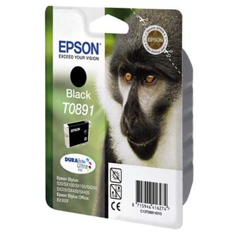 Inkoustová cartridge Epson Stylus S20/SX100/SX200/SX400, C13T08914021, black, 1*5,8ml, blistr s ochranou, O