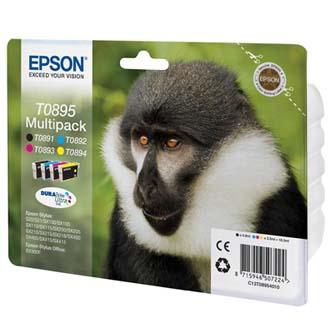 Inkoustová cartridge Epson Stylus S20/SX100/SX200/SX400, C13T08954010, cyan/magenta/yellow/black, 3*3,5ml a 1*5,8ml, O
