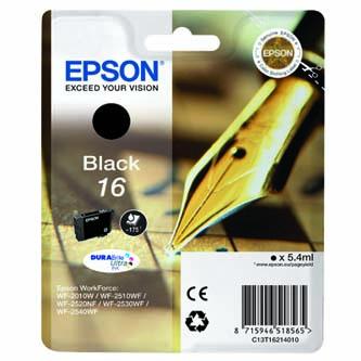 Epson originální ink C13T16214020, T162140, black, 5.4ml, Epson WorkForce WF-2540WF, WF-2530WF, WF-2520NF, WF-2010