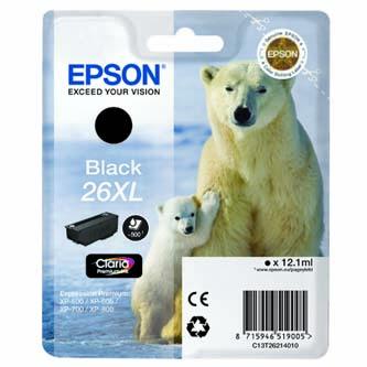 Epson originální ink C13T26214020, T262140, black, 12,2ml, Epson Expression Premium XP-800, XP-700, XP-600