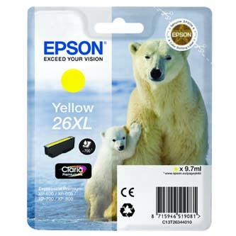 Epson originální ink C13T26344020, T263440, yellow, 9,7ml, Epson Expression Premium XP-800, XP-700, XP-600
