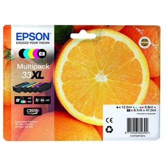 Epson originální ink C13T33574010, T33XL, CMYK, 12,2/3x8,9/8,1ml, 1ks, Epson Expression Home a Premium XP-530,630,635,830